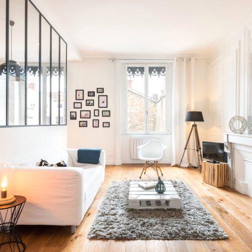 Décoration de l'appartement en location rue Franklin, Lyon 2